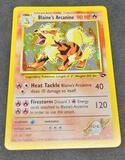 Pokemon card Blaine's Arcanine Holo with a swirl