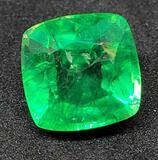 6.13ct Sea green Emerald princess cut Gemstone