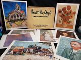 Vincent Van Gogh Masterpieces 8 Fine Full Color Prints Ready for Framing Two Monets One Renoir print