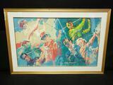 Leroy Neiman Artwork Legends of Golf Framed Print Signed 37.5 x 25in