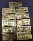Gold banknotes 99.9% pure 24kt gold 11 notes