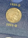 Whitman Buffalo Nickel Book Partial Set & Lowest Mintage Buffalo Included