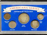 Obsolete Rare Coins of Yesteryear Set in Plastic Holder