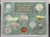 Odd Shaped Coins of the World Set in Plastic