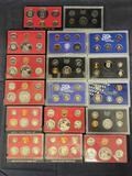 1968-2000 Different US Mint Proof Sets, 18 Units
