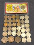 Obsolete Coin Hoard. Big Pile of 100 Plus Year Old US Antique Coins