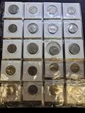 47 quarters in binder sleeve 1974-2002 with state quarters