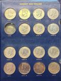 Whitman Classic Kennedy Halves 1964-Present Album Mostly Complete Set