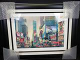 2014 Alexander Chen. Times Square South Seriolithograph color on paper. COA & Appraisal. Signed