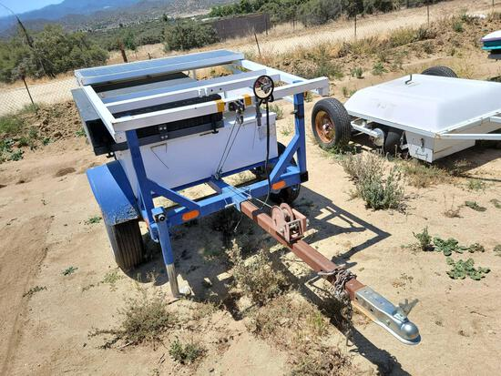 2006 Patriot Energy Services 9ft Long Speed Awareness Sign Solar Utility Trailer sold for parts only