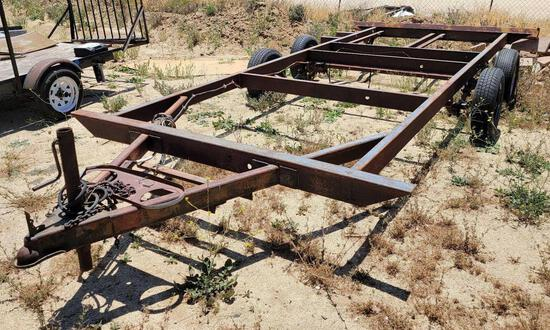 20ft Heavy Duty Custom Trailer sold for parts only