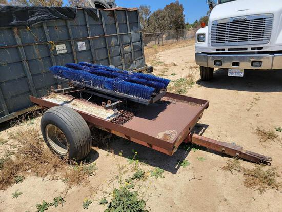 11ft Mini Trailer w/ Off-Road Wheels sold for parts only