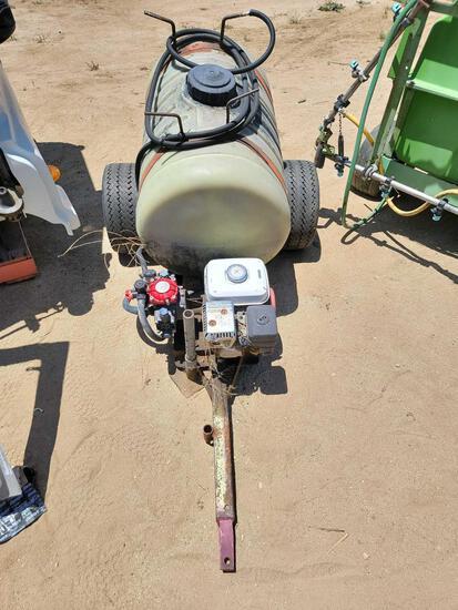 6ft Tow Behind Fluid Tank w/ Pump Trailer