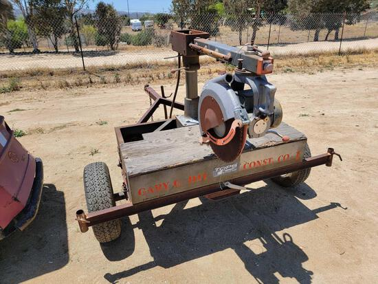 9ft Tow-Behind Log Chop Saw sold for parts only