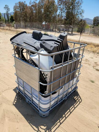 4ft Tall Metal Basket Full of Freightliner Parts, ramps