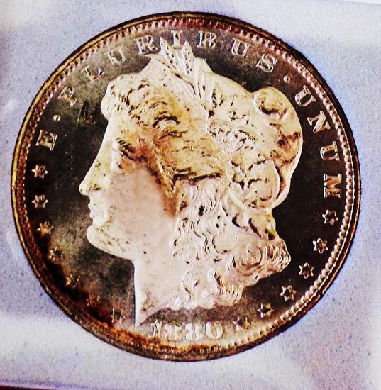 Morgan silver dollar 1880 s/s Gem Bu DMPL stunning mirrors Frosty white original PQ