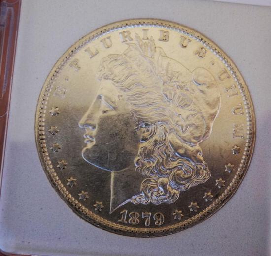 Morgan silver dollar 1879 O/O blazing Gem BU PL better Date