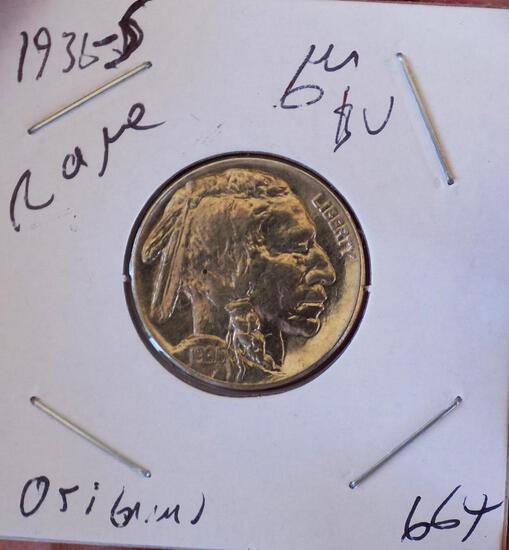 Buffalo Nickel 1936 S Gem BU Blazing Frosty Beauty Premium original coin