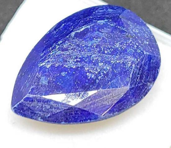 Pear cut blue Sapphire gemstone 20.83ct