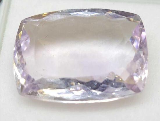 Cushion cut 13.37ct Amethyst Gemstone Report