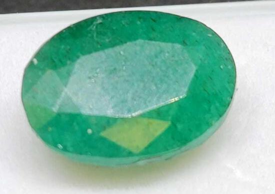 Green Emerald oval cut 12.80ct gemstone