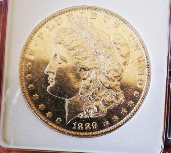 Morgan silver dollar 1889 gem pr deep cameo proof dmpl glassy monster mirrors wow coin