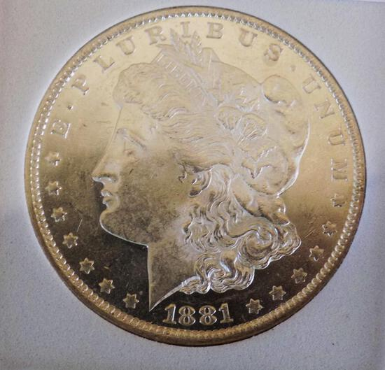 Morgan silver dollar 1881 O Frosty blazing gem bu dmpl glassy rare find MS++++