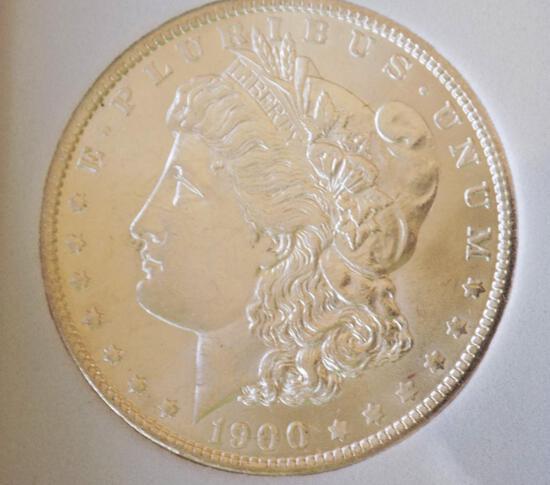 Morgan silver dollar 1900 o/o gem bu blazing Frosty white ms+++ satin blazer ddr