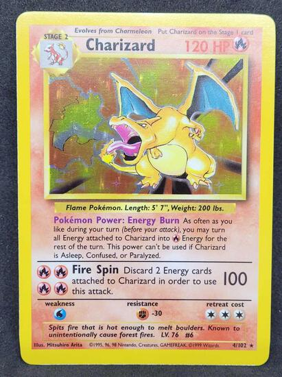 Pokemon card Holo Base set Charizard WOTC
