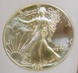 American silver eagle 1990 gem bu perfect Frosty white mint state semi pl early year premium eagle