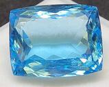Cushion cut blue Topaz 18.71ct gemstone