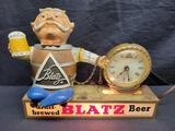 Vintage Blatz Beer clock sign