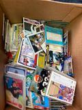 box of mixed cards basketball baseball football