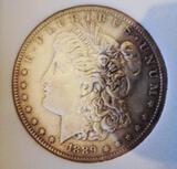 Morgan silver dollar 1889 s rare Date San Francisco Mint Toned UNC++ Wow