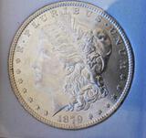 Morgan silver dollar 1879 P AU55+ Target Toned Beauty Nice coin