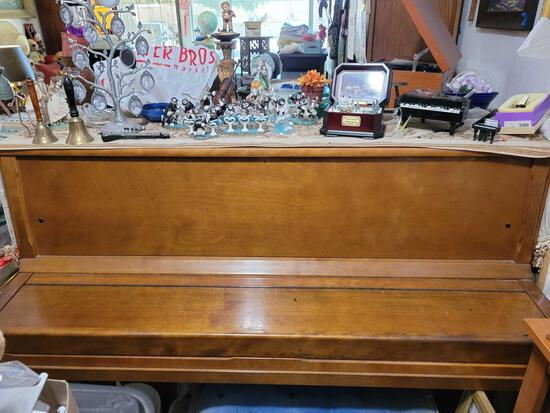 Zimmering & Sons upright Piano and contents on top not including stater bros bag item