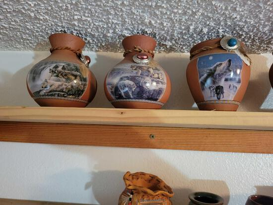 Numbered Indian pots. Whitefish pottery