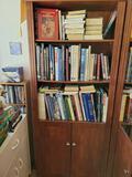 Bookcase w books almanacs