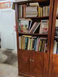 Bookcase w Cookbooks and Animal books