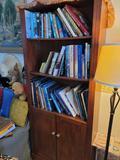 Bookcase w travel books