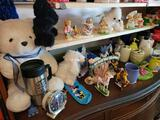 Stuffed animals Cherished Teddies knick knacks and more.