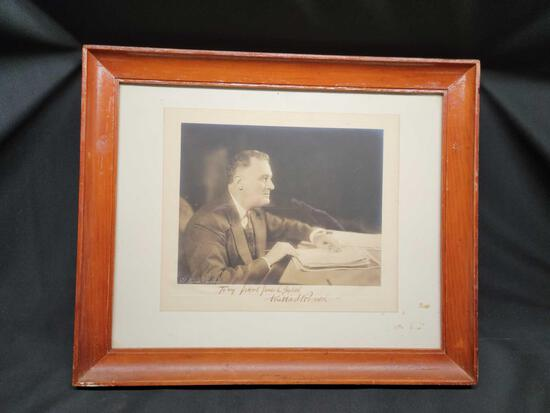 Framed photo of Franklin D. Roosevelt Signed not authenticated