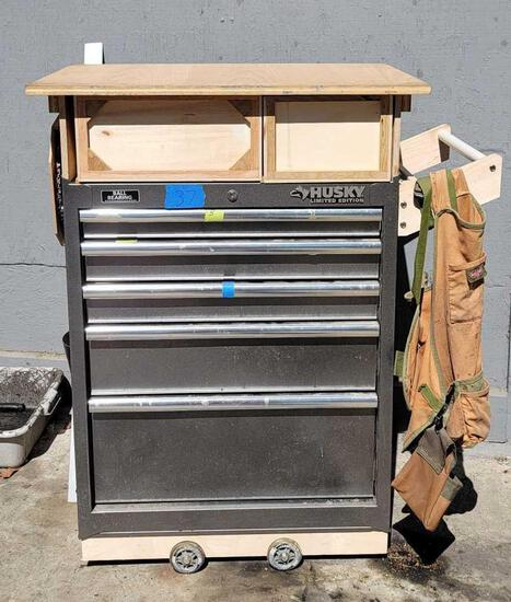 Husky limited edition toolbox with tools.