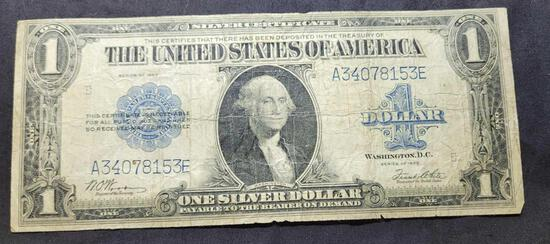 1923 Silver Certificate Large Size Obsolete Horse Blanket Banknote
