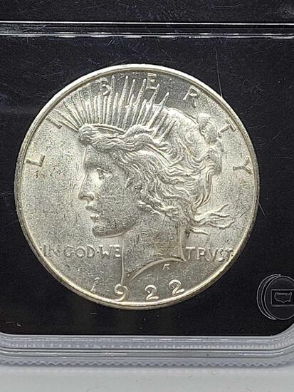 1922-S Slabbed Peace Dollar Gem Brilliant Uncirculated Blast White