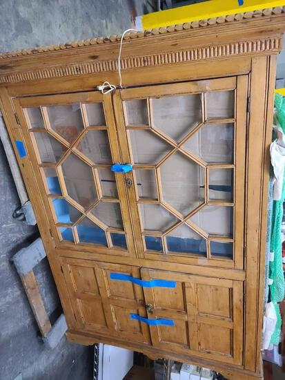 6ft Tall Antique or Vintage Display Cabinet repurposed barnwood