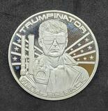 1 Troy Ounce .999 Fine Silver Donald Trumpinator we'll be back