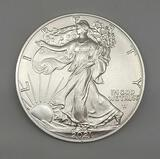 2021-W Type 2 American Silver Eagle 1 Ounce Silver Round. Gem Brilliant Uncirculated