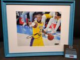 Lakers LeBron James Framed 8 x 10 Signed photo