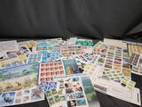 Stamp sheets Legends of Hollywood James Dean Humphrey Bogart Bugs Bunny Dinosaurs Cats